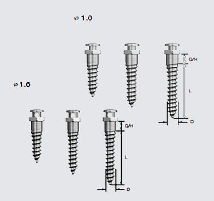 MiniTornillos-6mm, 8mm y 10mm
